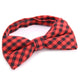 Men's Red Black Silk Pre-Tied Bow Tie - Amedeo Exclusive