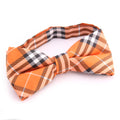 Men's Orange Plaid Silk Pre-Tied Bow Tie - Amedeo Exclusive