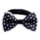 Men's Black White Polka Dot Silk Pre-Tied Bow Tie