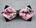 Men's Pure Cotton Pink Floral Pre-Tied Bow Tie - Amedeo Exclusive