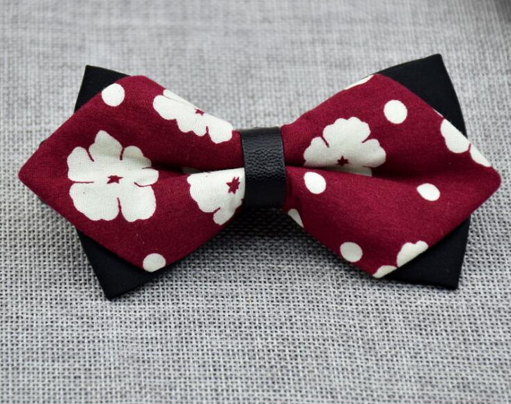 Men's Red Black White Dots Pre-Tied Bow Tie - Amedeo Exclusive