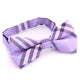 Men's Purple Plaid Silk Pre-Tied Bow Tie