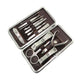 Mens Manicure Pedicure Kit - 12 piece Grooming Kit with travel Case - Amedeo Exclusive