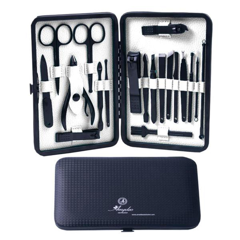 Unisex Stainless Steel 19 Piece Sets Manicure & Pedicure Set - Amedeo Exclusive