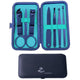 Stainless Steel 7 Piece Sets Light Blue Manicure & Pedicure Set - Amedeo Exclusive