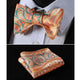 Men's Silk Paisley Self Bow Tie Handkerchief