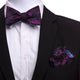 Men's Silk Multicolor Self Bow Tie