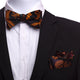 Men's Orange & Black Silk Self Bow Tie