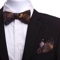 Men's Bronze Brown & Green Self Bow Tie