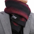 Soft Elegant Long Fashion Red & Black Silk Unisex Scarf