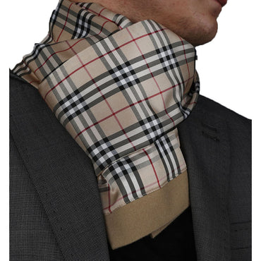 Unisex Tan Plaid Soft Elegant Long Fashion Scarf