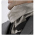 Elegant Metallic Cream Mens Silk Scarf - Designer neck scarf for winters
