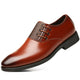 men's comfortable walking modern Leather Lace up Oxford dress casual shoes Coffee - Amedeo Exclusive