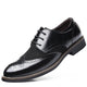 Men's Black Leather Lace Up Casual Athletic Training Walking Shoes