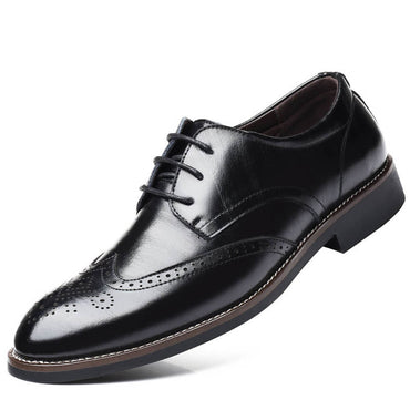 Men's Comfortable Walking Modern Leather Lace Up Oxford Dress Casual Shoes Black - Amedeo Exclusive