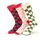Men's Soft 3pk Assorted Bundle Colorful Socks - Amedeo Exclusive