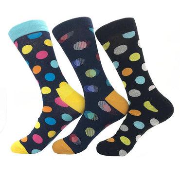 Amedeo Exclusive Men's Ball Printed 3pk Assorted Bundle Soft Colorful Socks - Amedeo Exclusive