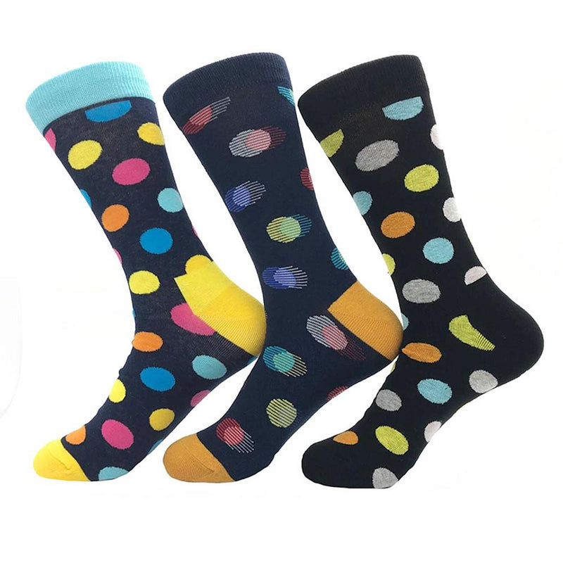 Amedeo Exclusive Men's Ball Printed 3pk Assorted Bundle Soft Socks