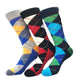 Men's Pattern Colorful 3pk Assorted Bundle Elastic Colorful Socks