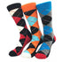Pattern Mens Colorful Crew Socks - Premium Cotton Fun socks with Soft Elastic - 3 Pack Bundle