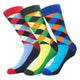 Men's Slack Printed Colorful Sock Assorted Bundle 3pk Multicolor - Amedeo Exclusive