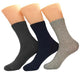 Men's Plain Color 3pk Assorted Bundle Soft Colorful Socks - Amedeo Exclusive