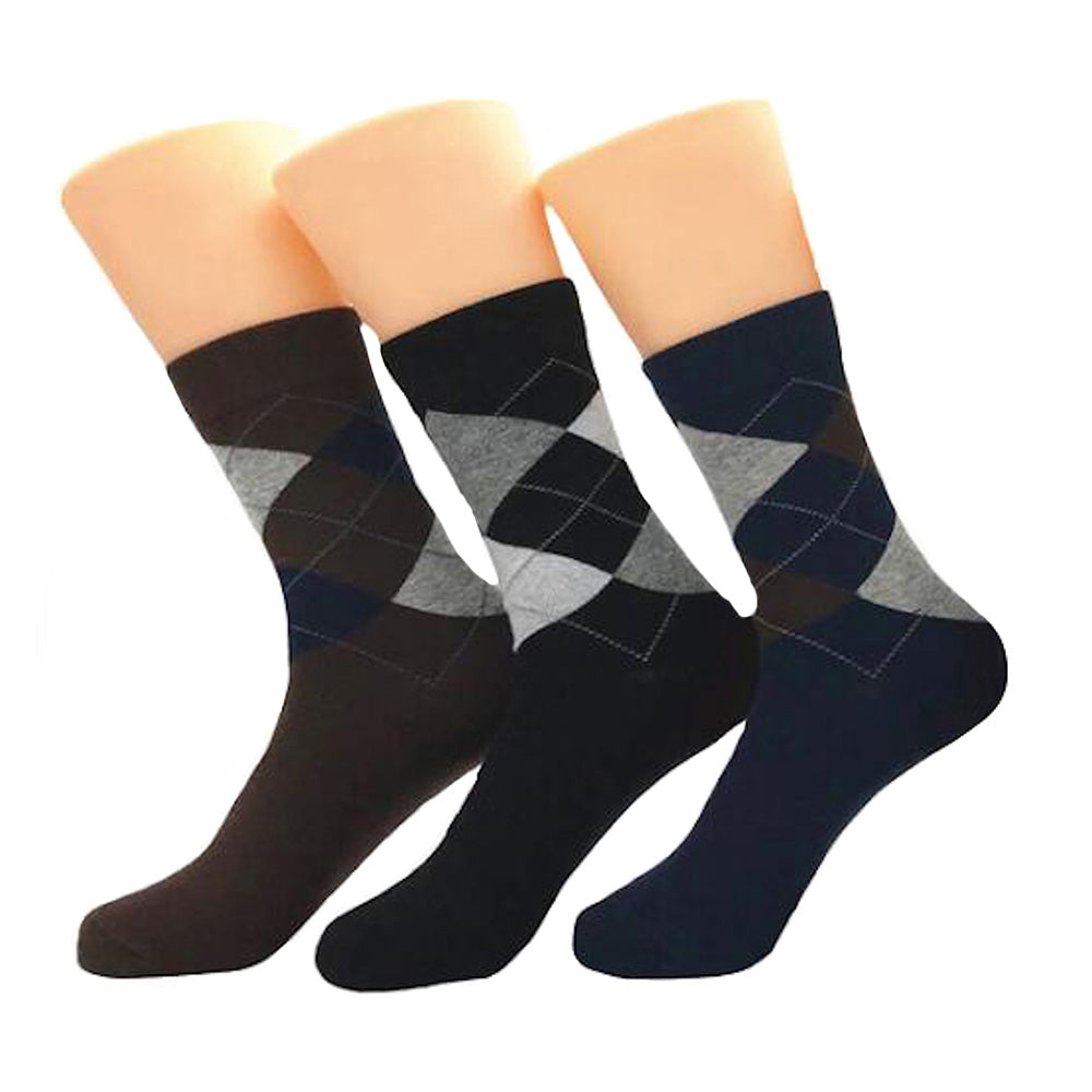Men's Pattern Multicolor 3pk Assorted Bundle Colorful Socks - Amedeo Exclusive