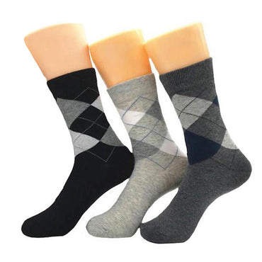 Men's New 3pk Assorted Bundle Soft Multicolor  Colorful Socks - Amedeo Exclusive