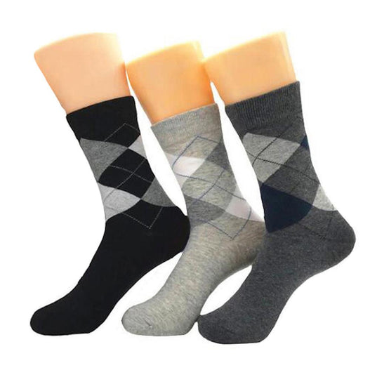 Men's New 3pk Assorted Bundle Soft Multicolor Socks