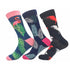 Leaf Printed Mens Colorful Crew Socks - Premium Cotton Fun socks with Soft Elastic - 3 Pack Bundle