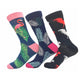 Men's Leaf Printed 3pk Assorted Bundle Colorful Socks - Amedeo Exclusive