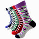 Men's Plain Five Color 5pk Assorted Bundle Soft Elastic Socks