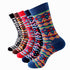 Plain Five Color Mens Colorful Crew Socks - Premium Cotton Fun socks with Soft Elastic - 5 Pack
