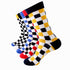 Multicolor Mens Colorful Crew Socks - Premium Cotton Fun socks with Soft Elastic - 5 Pack Bundle