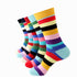 Pkain 5 Colors Mens Colorful Crew Socks - Premium Cotton Fun socks with Soft Elastic - 5 Pack