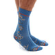 Men's Soft Cotton Blue Paisley silk Socks - Amedeo Exclusive