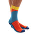 Yellow Orange Blue Mens Dress Socks - Premium Cotton formal socks with Soft Elastic