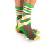 Men's Colorful Green Grey & White Socks