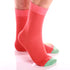 Men's Colorful Solid Orange with Light Green Socks