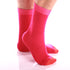 Men's Colorful Solid Pink with Orange Socks