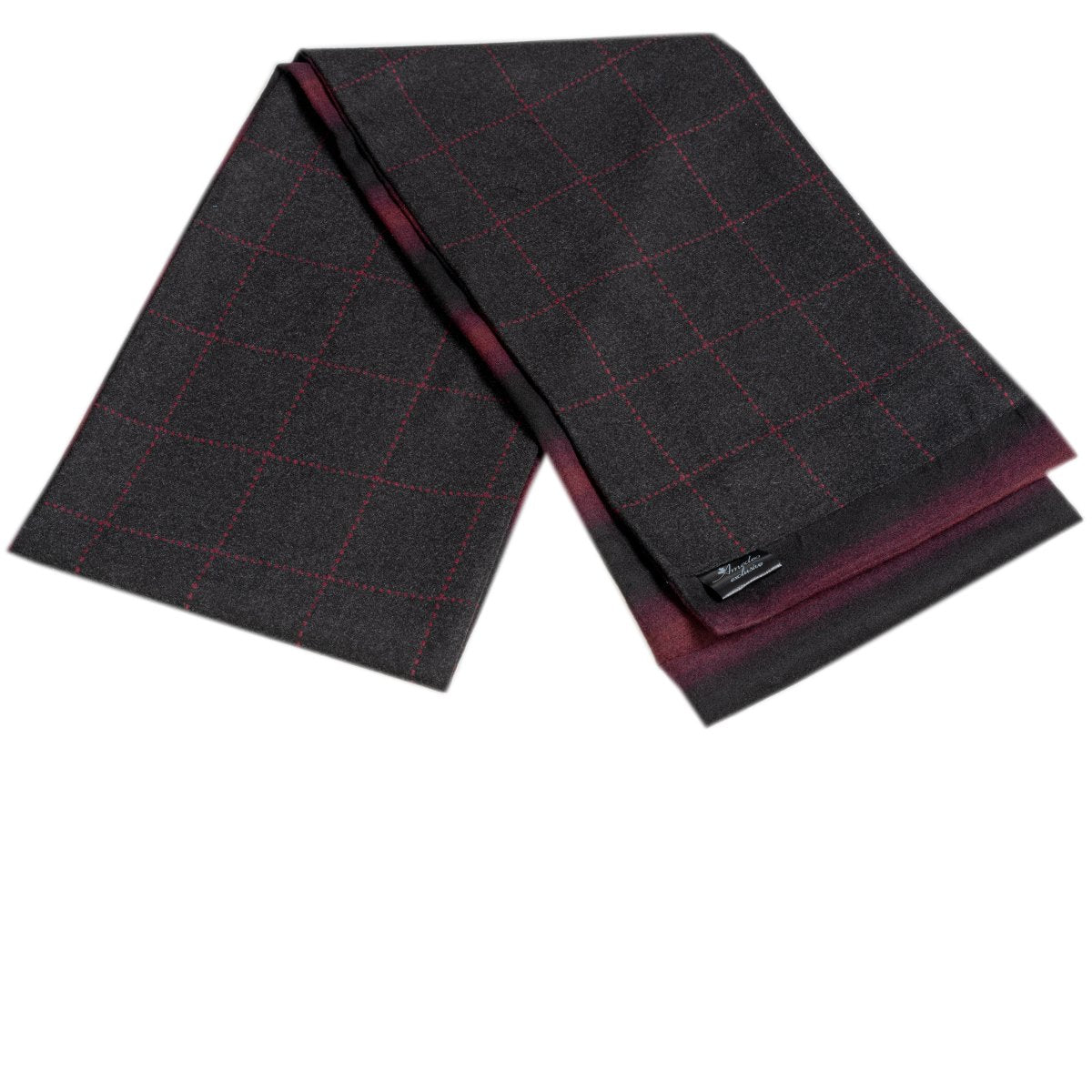 Men's Microfiber Soft Comfortable Black Red Wool Scarf - Amedeo Exclusive