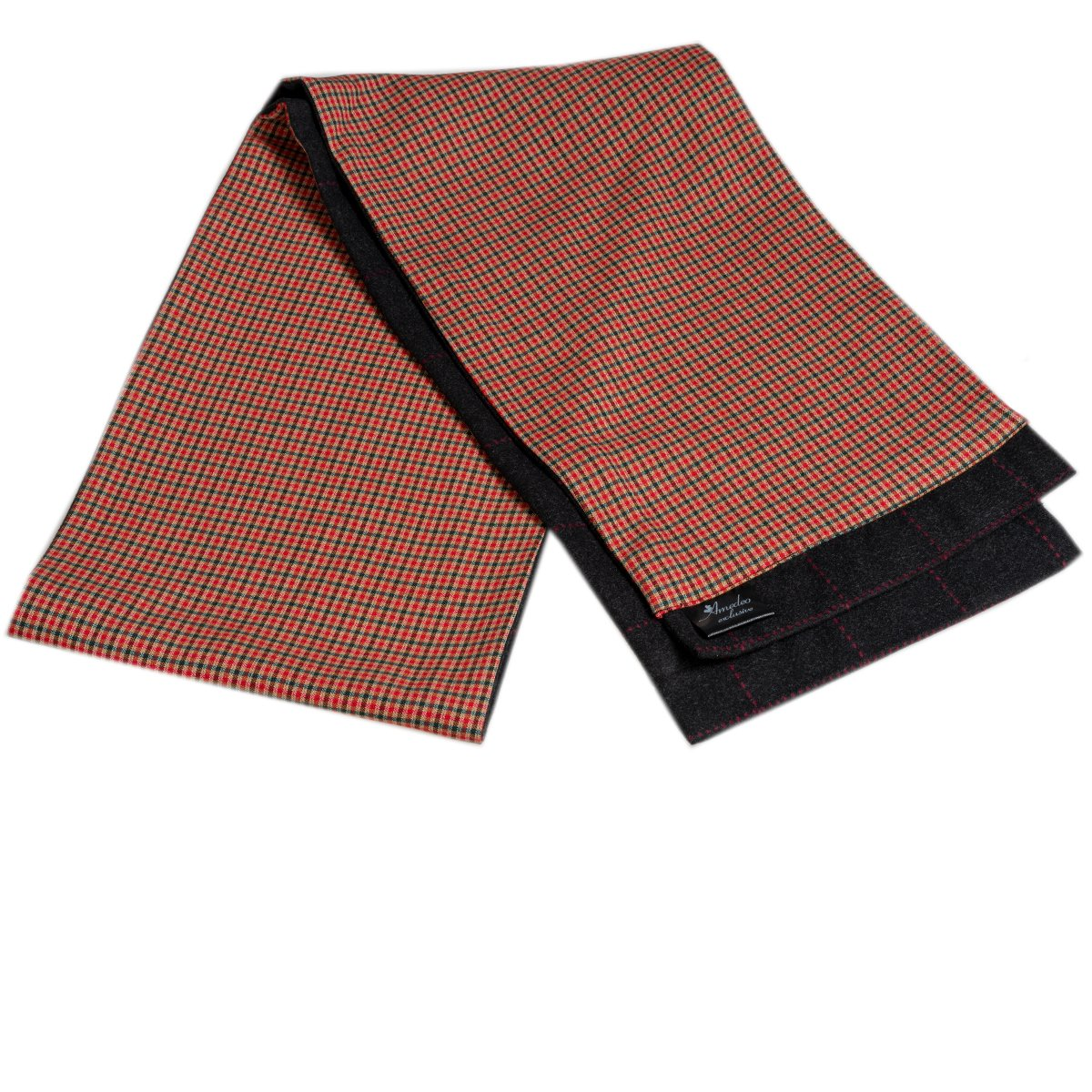 Men's Microfiber Soft Comfortable Tan Check Wool Scarf - Amedeo Exclusive
