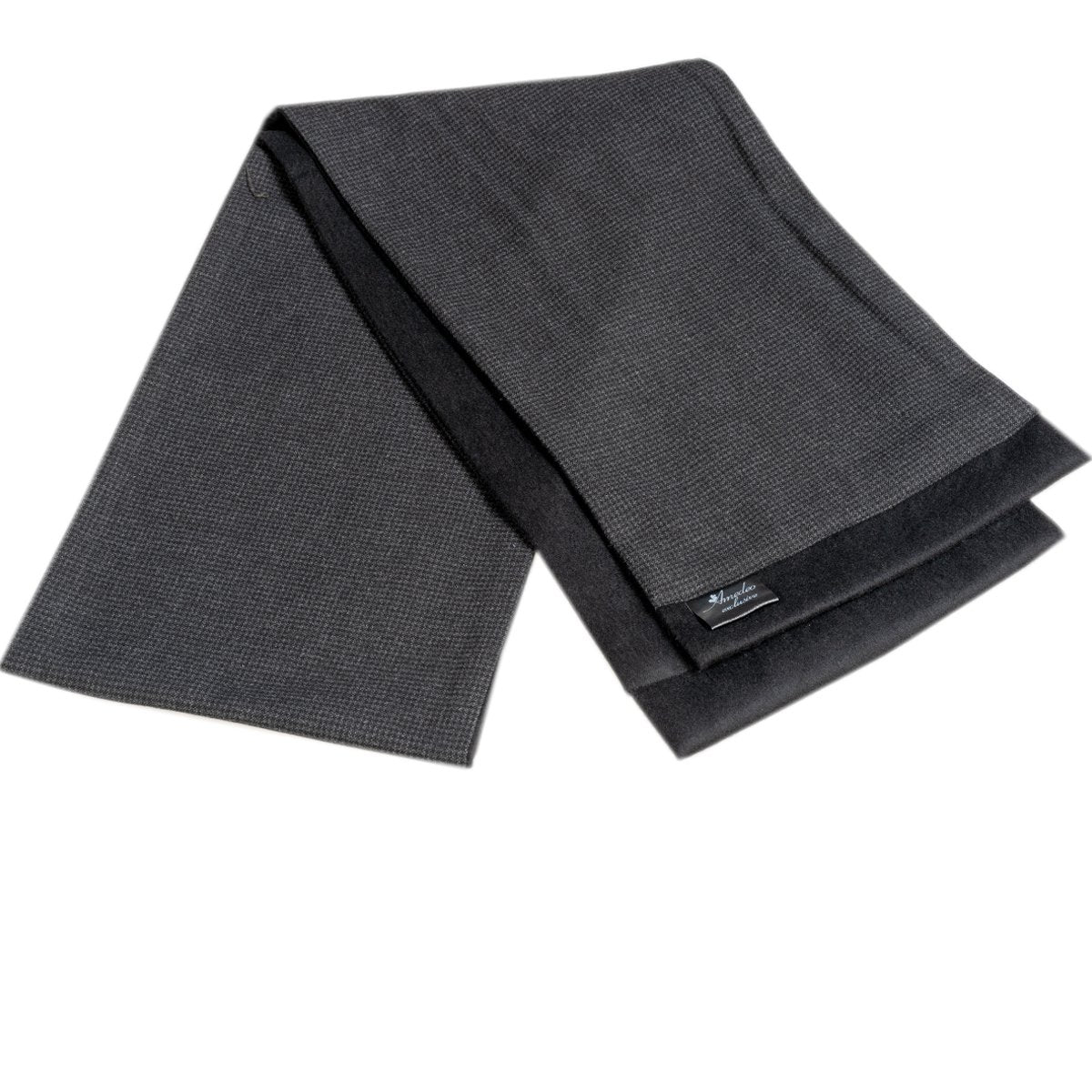 Men Microfiber Soft Comfortable Dary Grey Wool Scarf - Amedeo Exclusive