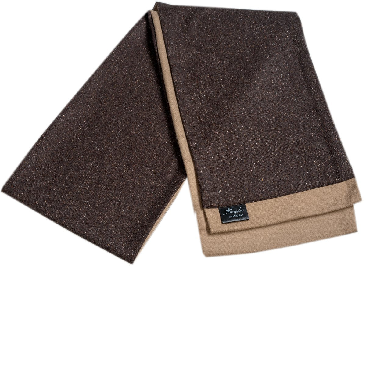 Men's Microfiber Soft Comfortable Brown Wool Scarf - Amedeo Exclusive