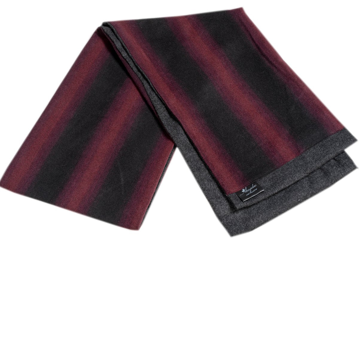 Men Microfiber Soft Comfortable Black Red Check Wool Scarf