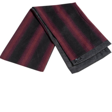 Mens Soft Wool Warm & Comfortable Burgundy Check Scarf - Amedeo Exclusive
