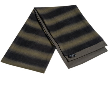 Men's Microfiber Soft Comfortable Black Green Wool Scarf - Amedeo Exclusive