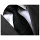 Men's jacquard Black Paisley Premium Neck Tie With Gift Box - Amedeo Exclusive