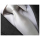 Men's Fashion White Silk Neck Tie With Gift Box - Amedeo Exclusive