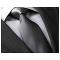 Men's jacquard Turqouise Silver White Premium Neck Tie With Gift Box - Amedeo Exclusive